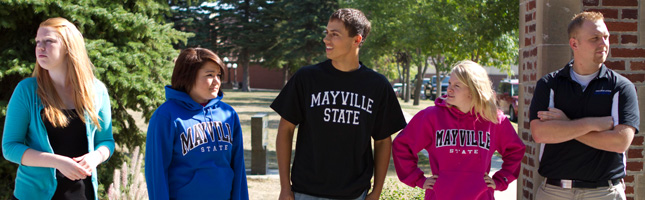 Students outside Mayville State