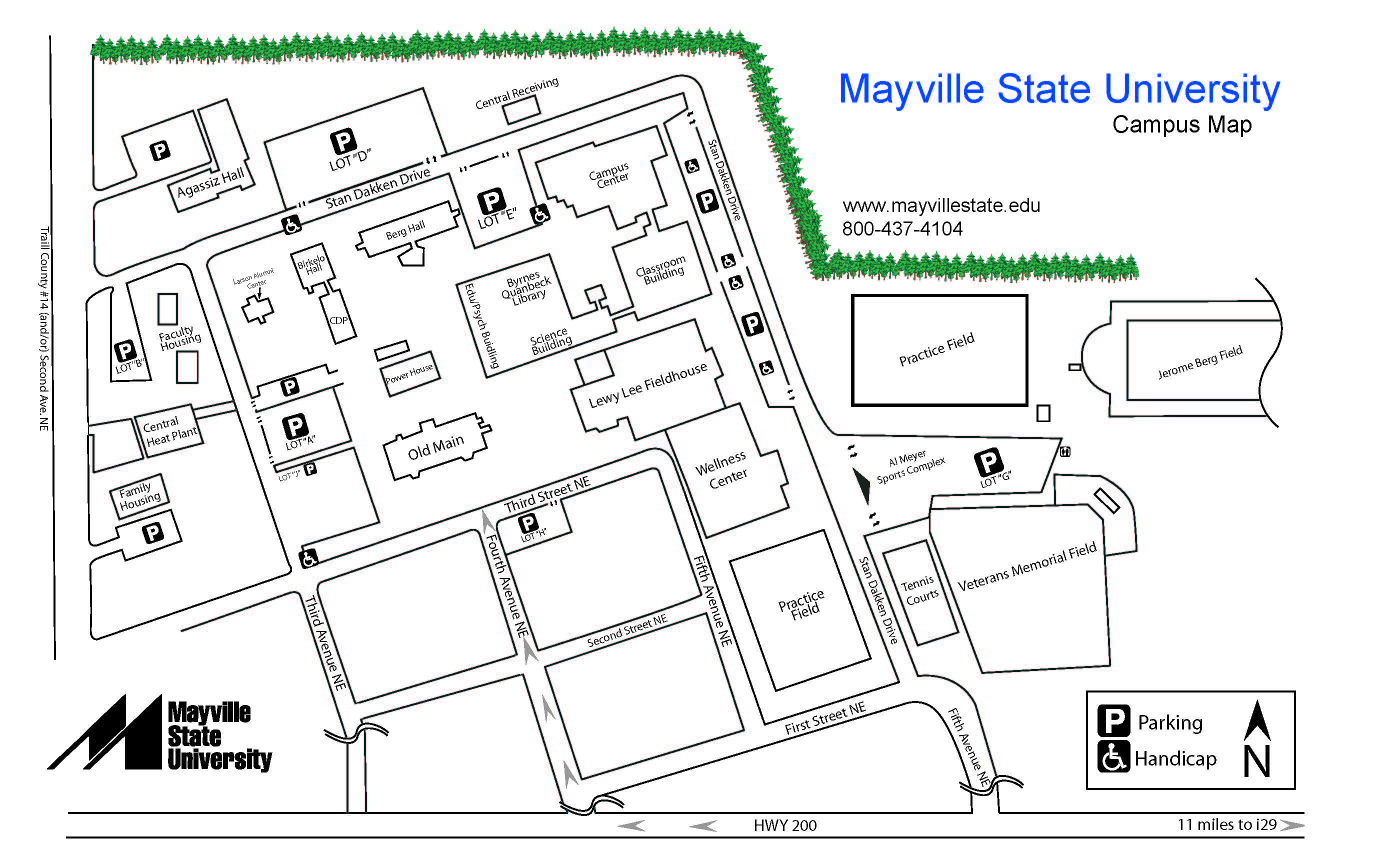 Mayville State Campus Map