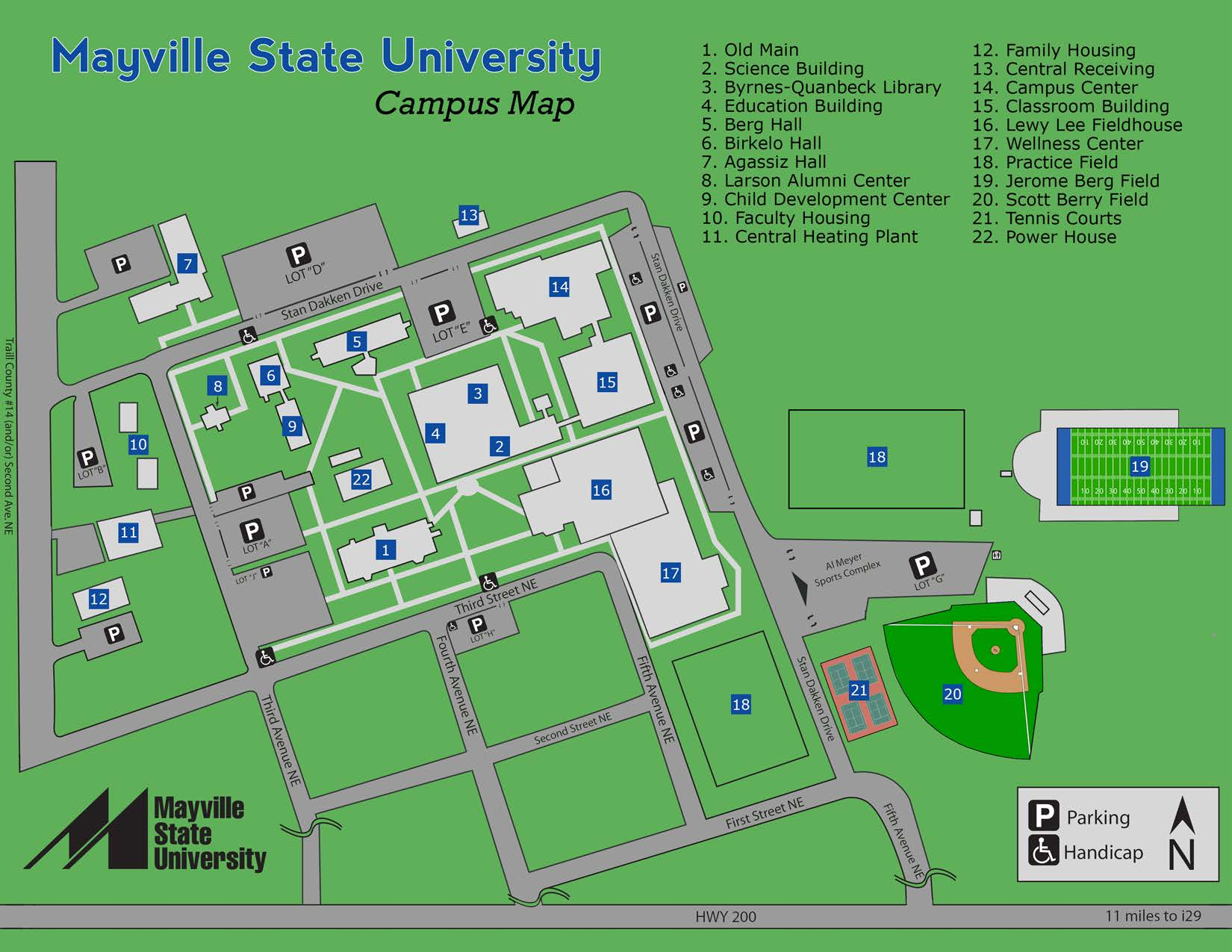 Campus Map Mayville State University Mayville Nd
