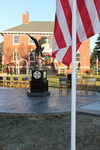 The Avenue Flags, provided by the local American Legion Post 8, provided a beautiful backdrop for the dedication ceremony.