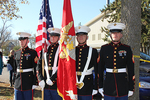 USMC Recruiting Substation, Fargo, and USMC Law Enforcement Detachment Co., Wahpeton, soldiers presented the colors.