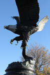 A life-size eagle in flight bronze statue is the centerpiece of the Honor Garden. The statue was donated by Valorie Brown and her family in memory of her husband, David Brown.