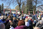 A crowd of about 200 people attended the dedication program.