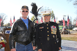 "Dr. Martin Johnson and Lt. Gen. Emil ""Buck"" Bedard, Military Honor Garden project chairs."