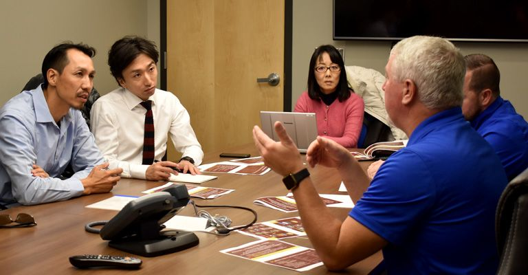 Mayville State hosts delegation from Japanese university